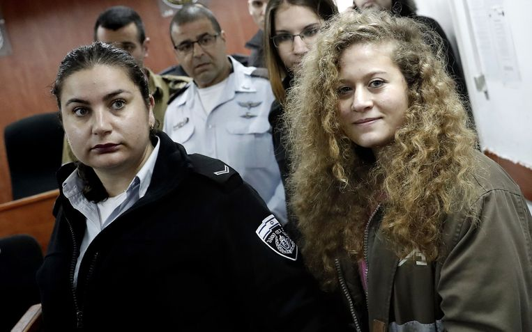 Ahed Tamimi (R).