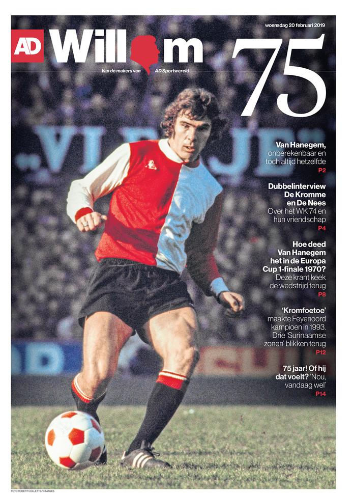 De cover van de Willem van Hanegem-bijlage.