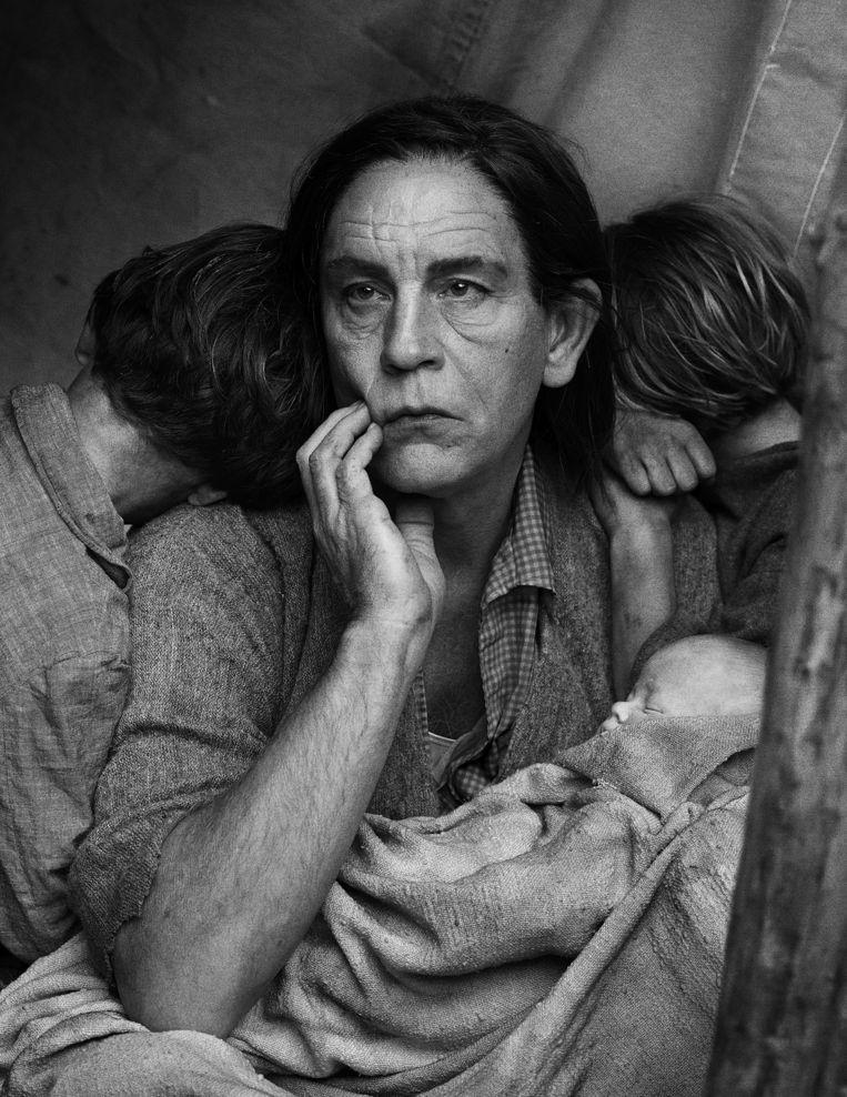 Migrant Mother van Dorothea Lange Beeld Sandro Miller