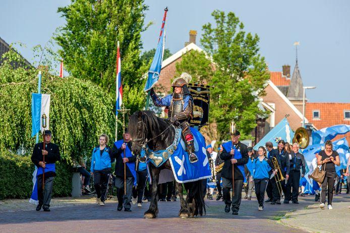 Afsluiting van de meimaandvieringen vorig jaar in Elshout.