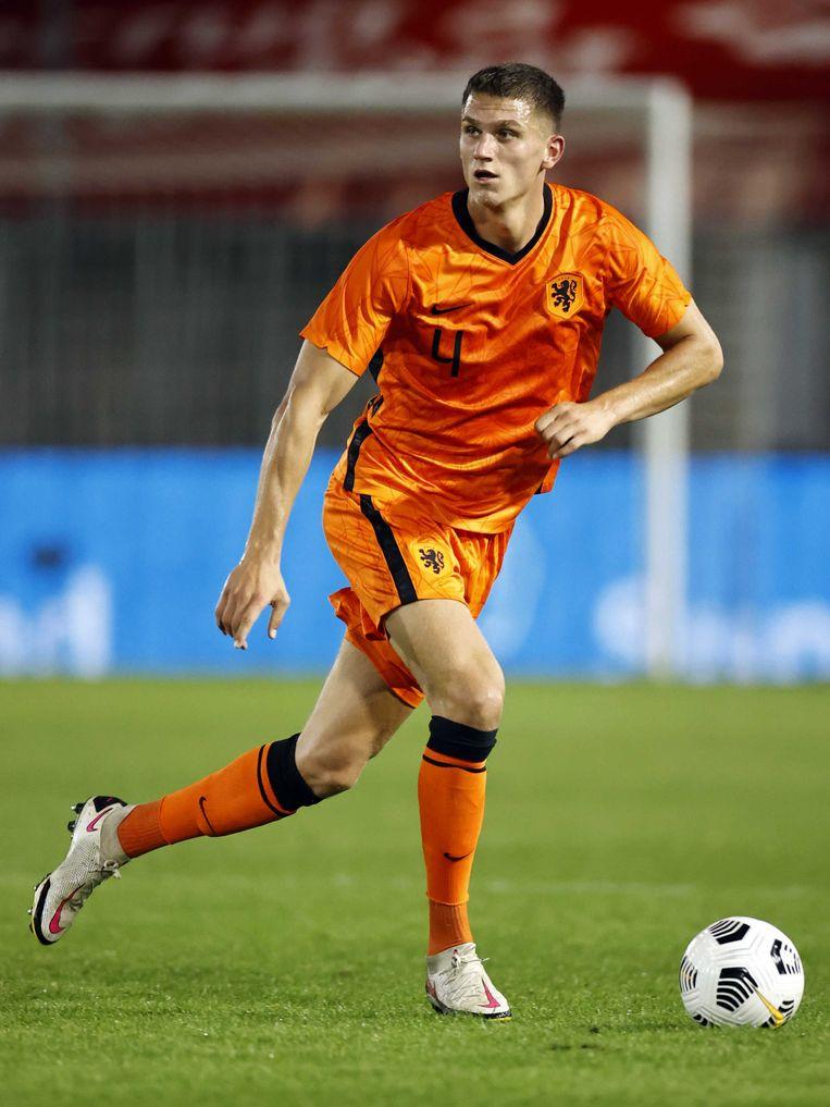 Sven Botman, dinsdag tijdens het met 2-0 gewonnen duel met Noorwegen.   Beeld ANP