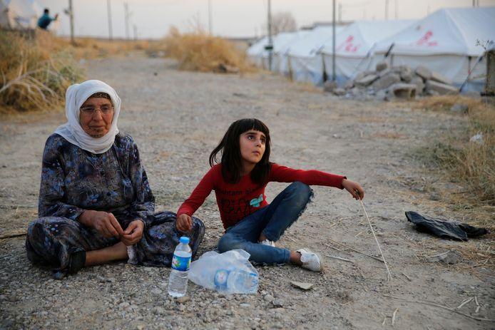 Réfugiés dans un camp au nord de Mossoul, en Irak.
