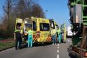 Een fietsster raakte gewond bij een ongeluk in Breda.
