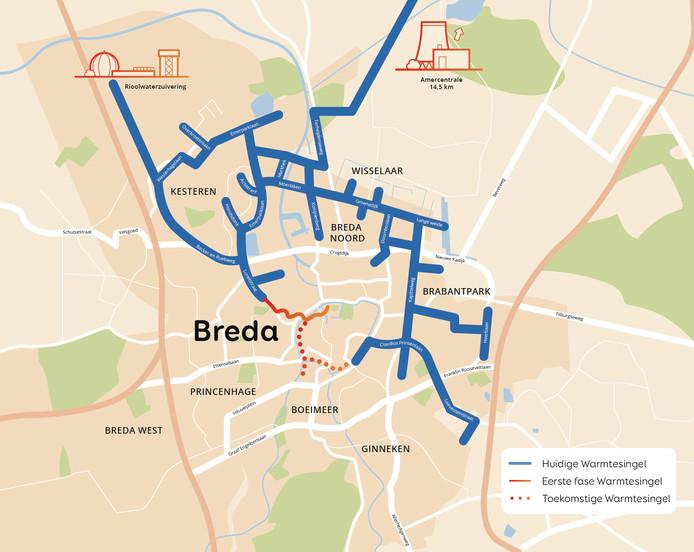 Het warmtenet in Breda
