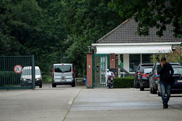 De ingang van asielcentrum Totem aan Grens in Arendonk