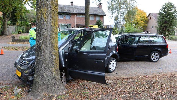 Schade na het ongeluk in Helvoirt