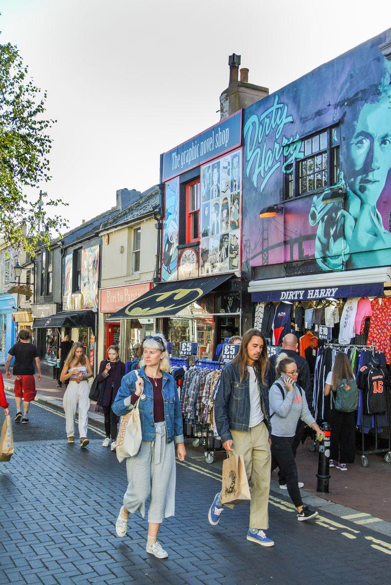 Trendy winkels in The Lanes. Beeld Haroon Ali