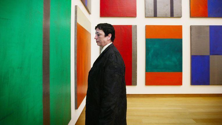 Ruf in 2014 bij werk van Günther Förg, ook nu te zien in het museum Beeld Jean-Pierre Jans