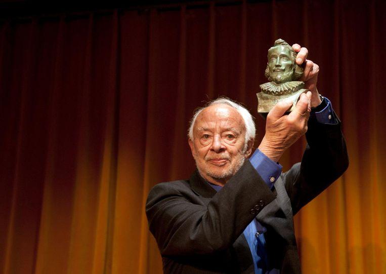 Henk Hofland won de P.C. Hooftprijs in 2011 Beeld ANP