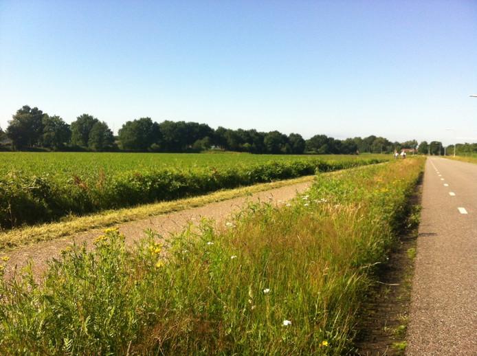 Op een of meerdere stukken grond links van deze Corridor moet het azc Uden komen.