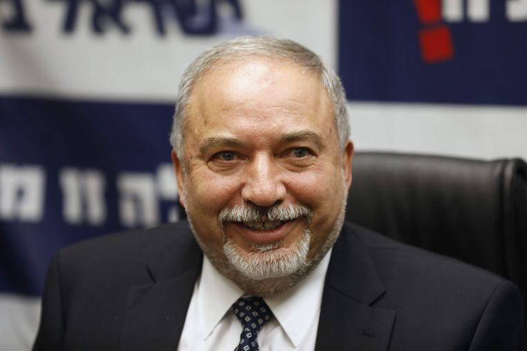 De Israëlische minister van Defensie Avigdor Lieberman.
