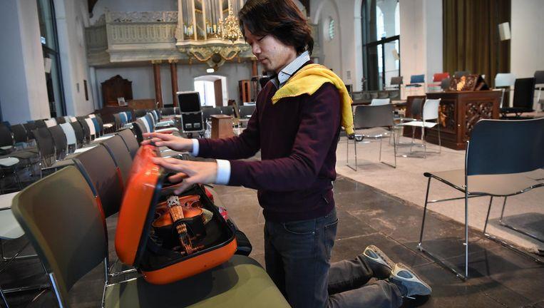 De Japanner Shunske Sato (32) wordt de nieuwe artistiek leider van de Nederlandse Bachvereniging. Beeld Marcel van den Bergh