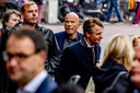 Advocaat Peter Plasman voorafgaand aan de herdenking voor de doodgeschoten advocaat Derk Wiersum in cultureel debatcentrum Rode Hoed