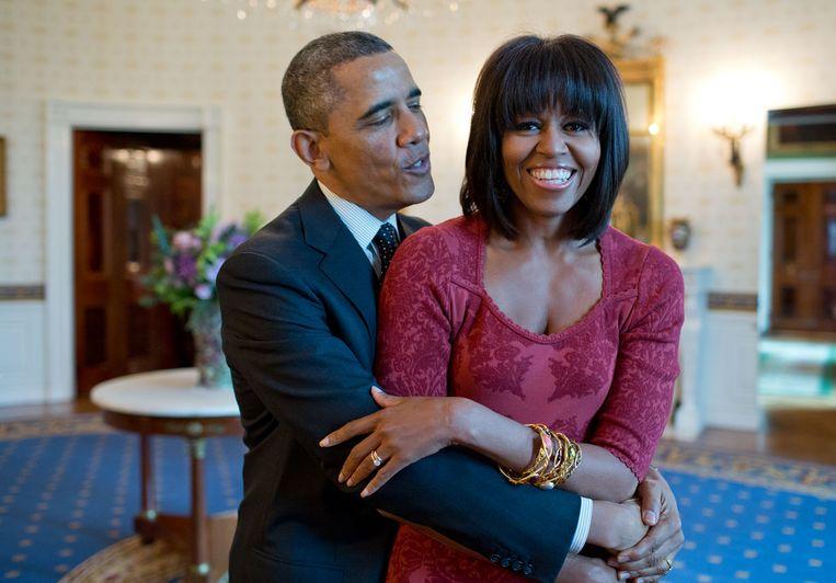 Barack en Michelle Obama in 2013. Beeld Hollandse Hoogte / Polaris Images