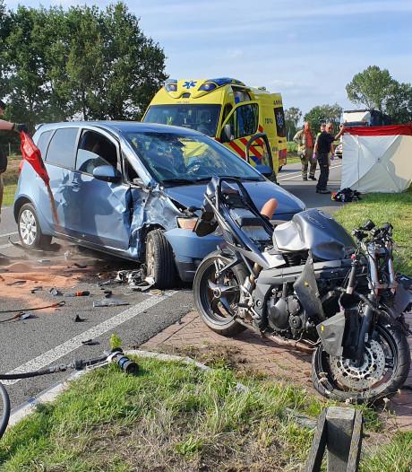 Motorbegeleider raakt zwaargewond in Rhenen