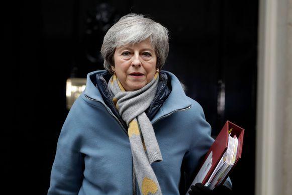 Premier May op weg naar het Britse parlement voor alweer een nieuwe stemming vanavond.
