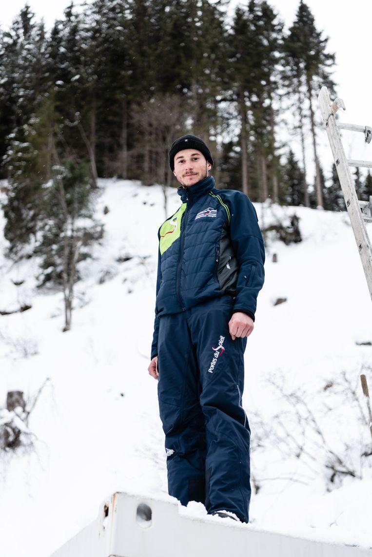 Een liftmonteur.  Beeld Katja Poelwijk