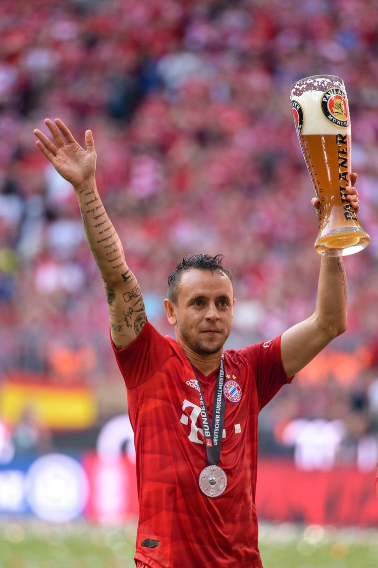 Ook voor de Braziliaan Rafinha was het zijn laatste wedstrijd bij Bayern München.