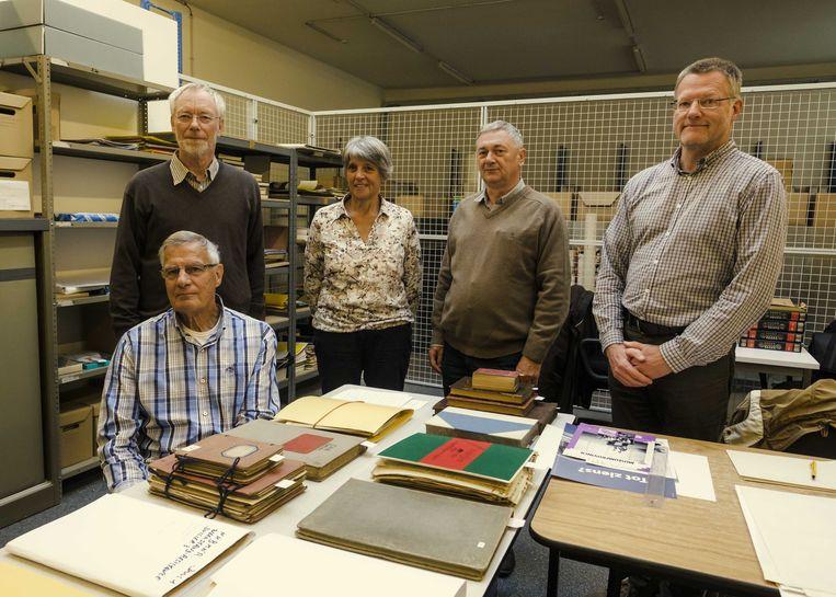 Veerle Wildiers en Hugo Tant (rechts) met enkele medewerkers.