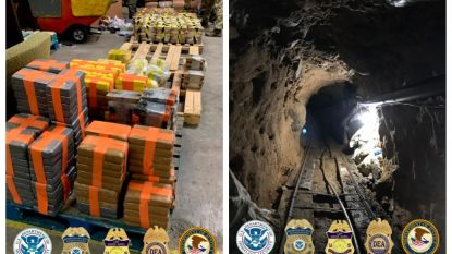 600 meter lange smokkeltunnel onder grens Mexico-VS blootgelegd, 30 miljoen dollar aan drugs in beslag genomen