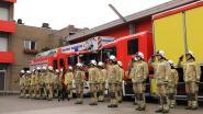Brandweer eert collega's met minuut stilte en loeiende sirene