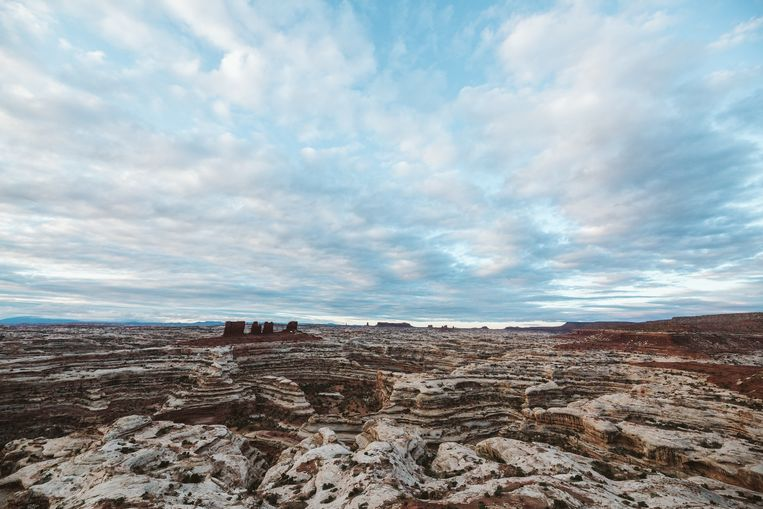 The Maze, een canyon bij Moab, in de Amerikaanse staat Utah. Beeld Getty Images/Cavan Images RF