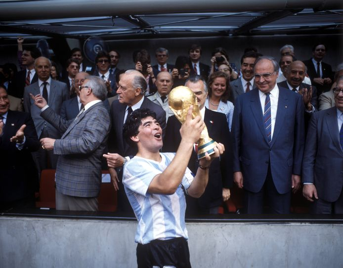 Diego Maradona can't believe it yet: he has made Argentina world champion.