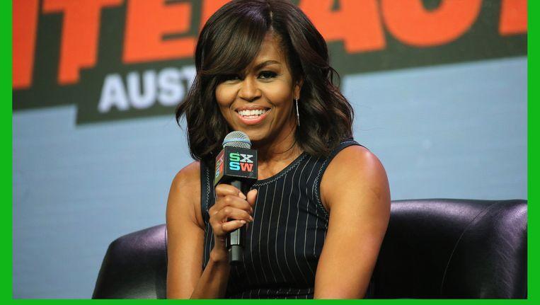 Michelle Obama tjdens haar optreden op het South by Southwest-festival. Beeld getty