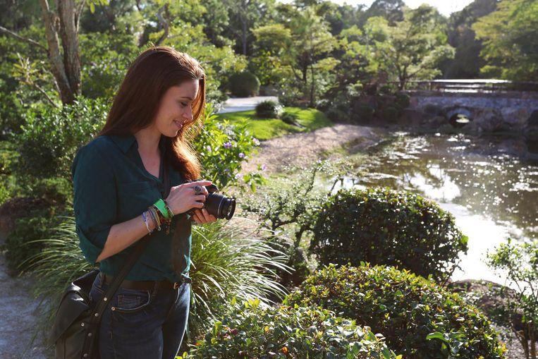 Een van haar hobby's is nu fotografie.