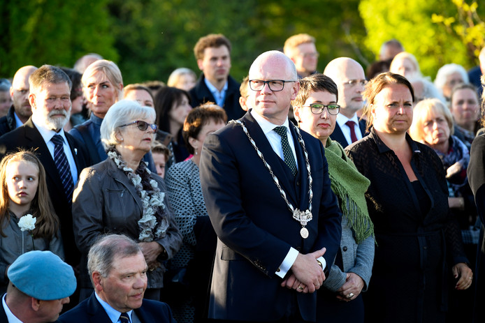 Klaas Tigelaar bij de Dodenherdenking in Leidschendam - Voorburg. Ter illustratie.