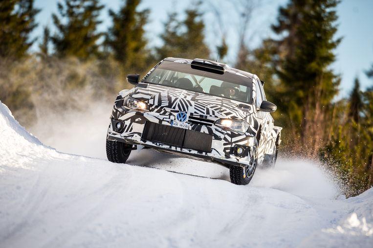 """Foto vrij van rechten met dank aan VW Motorsport on the picture regarding the Belga article """"Petter Solberg en Volkswagen maken comeback in WK rally"""", 20/09/2018 12:24, in BRUSSELS. BEST QUALITY AVAILABLE - BELGA PHOTO ERIC DUPAIN"""