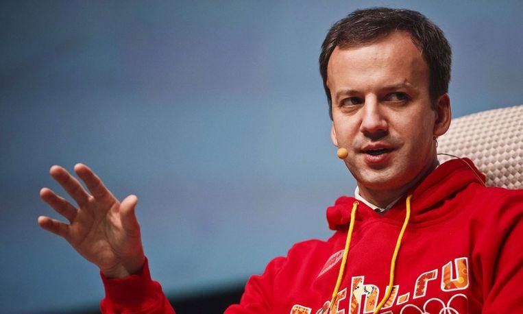 President van de wereldschaakbond Arkadi Dvorkovitsj doet zijn uiterste best om van schaken een Olympische sport te maken. Beeld afp