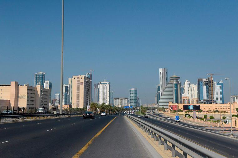 Zicht op de hoofdstad van Bahrein, Manama.