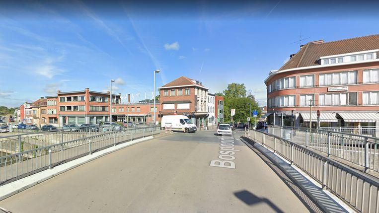 De Bospoortbrug in Halle.
