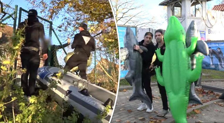 De Nederlandse YouTubers werden op het einde van hun bezoekje op heterdaad betrapt.