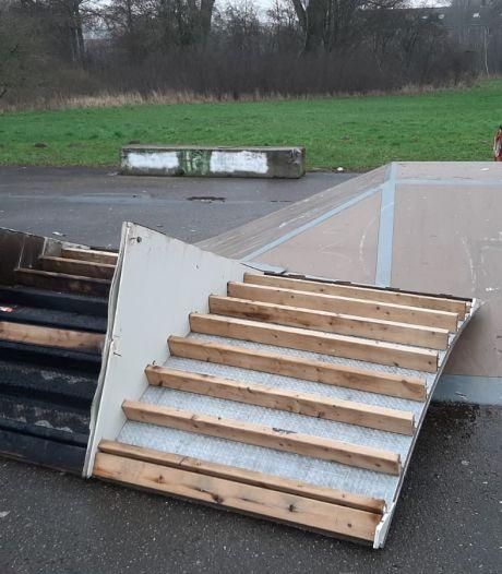 Vandalen slaan toe op skatepark De Huet