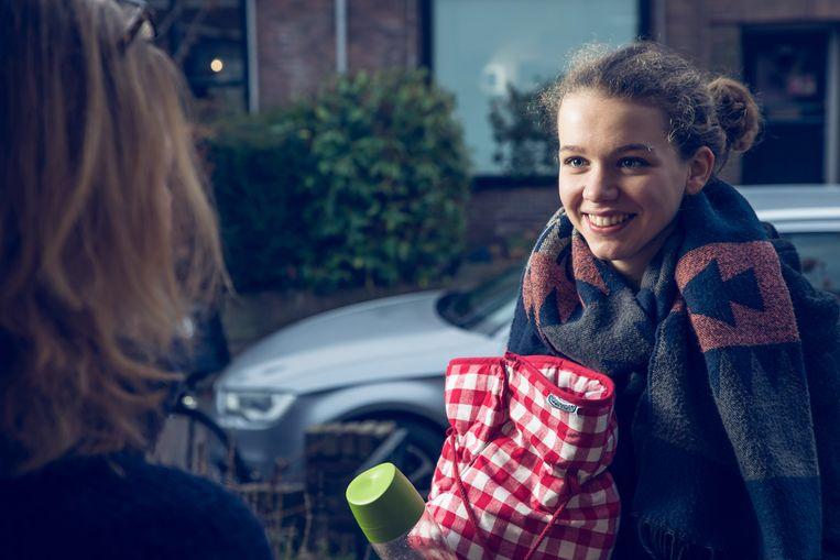 Merel Poppeliers startte op haar zestiende verjaardag met haar eigen ontbijtservice. Beeld Merel Poppeliers