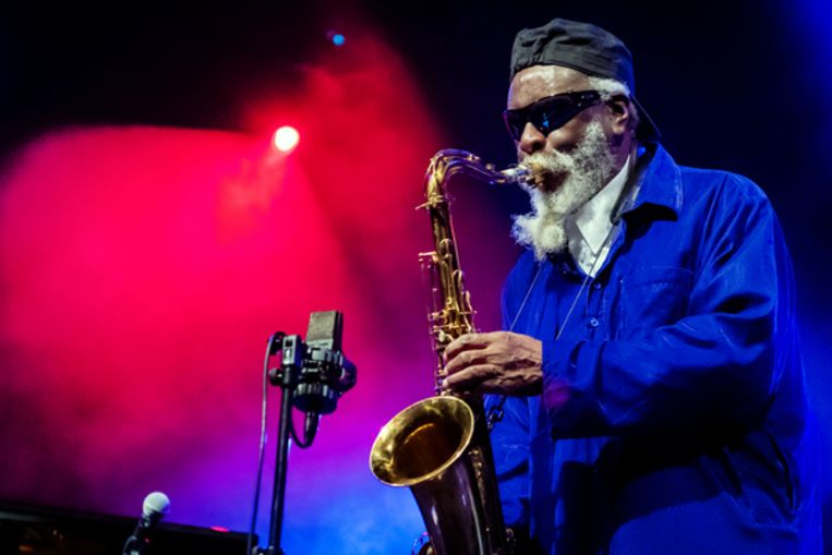 Pharaoh Sanders op North Sea Jazz Beeld Daniel Cohen
