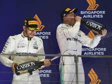 Bottas was bijna uitgedroogd aan de finish in Singapore