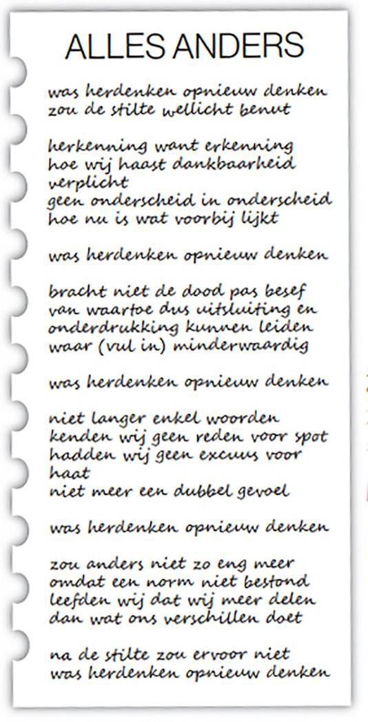 Rotterdamse Stadsdichter Maakt Herdenkingsgedicht