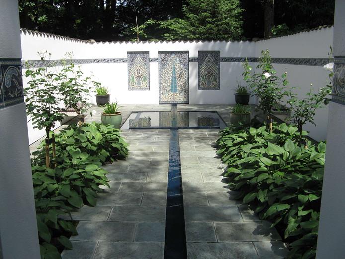 De Perzische tuin, zoals die er vóór 2016 bijstond.