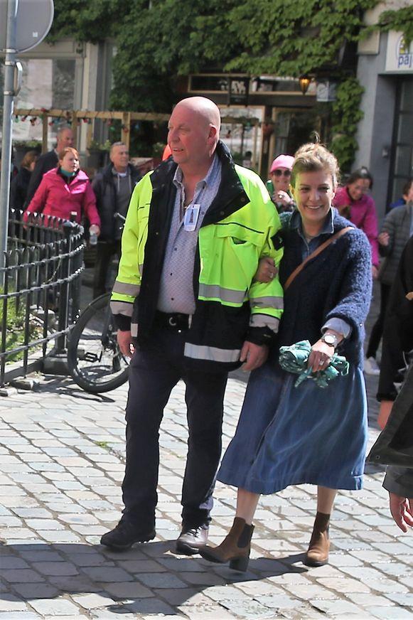 Jan Vandenbossche tijdens de laatste meters van een bedevaart die meer dan tachtig kilometer lang was tussen Wielsbeke en Halle.
