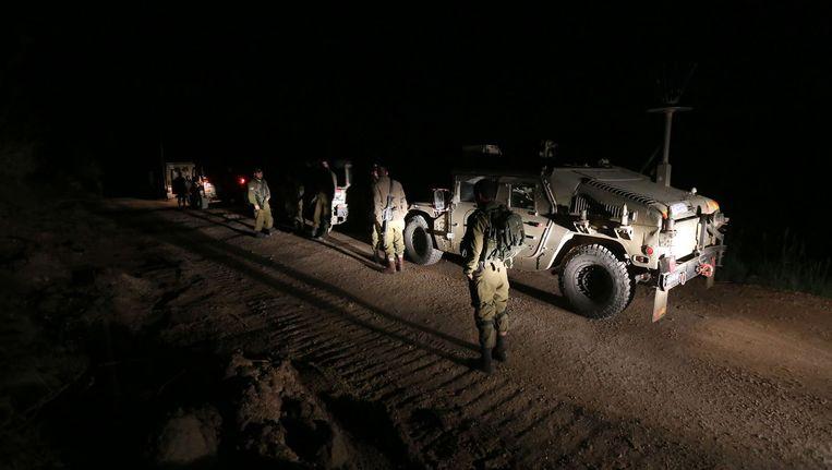 Israëlische militairen op de bezette Golanhoogte Beeld afp