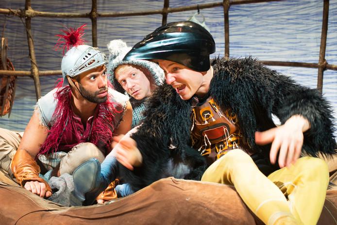 Scène uit de opera 'Jabber' door theatergroep Kwatta.