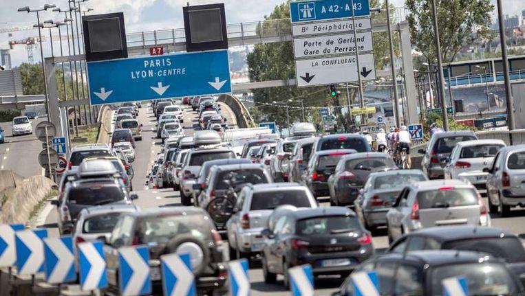 Files op de Franse snelwegen Beeld afp