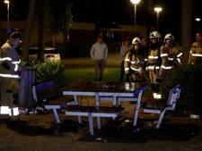 Picknicktafel vernield door brand bij Kinderboerderij Boxtel