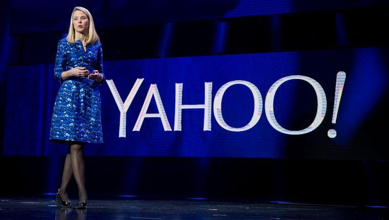 De CEO van Yahoo, Marissa Mayer. Beeld AP