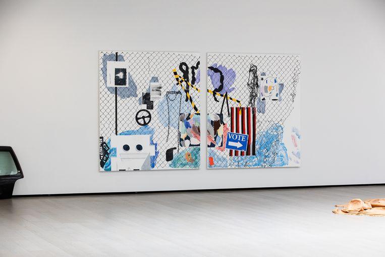 Female Readymade Pt.I & II van Melissa Gordon in kunstruimte Garage in Rotterdam. Beeld Natascha Libbert