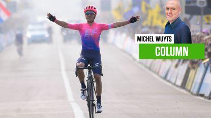 """Onze columnist Michel Wuyts vraagt zich af hoe Ronde er op 18 oktober zal uitzien: """"Cameraatjes in volgauto's tonen één nagelbijtende ploegleider. Achter een mondmasker"""""""