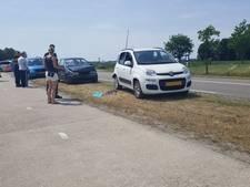 Kop-staartbotsing op Glanerbrugstraat in Glane